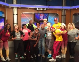 TMF on Kickin' it with Kenny with the Cavs Scream team FOX 8