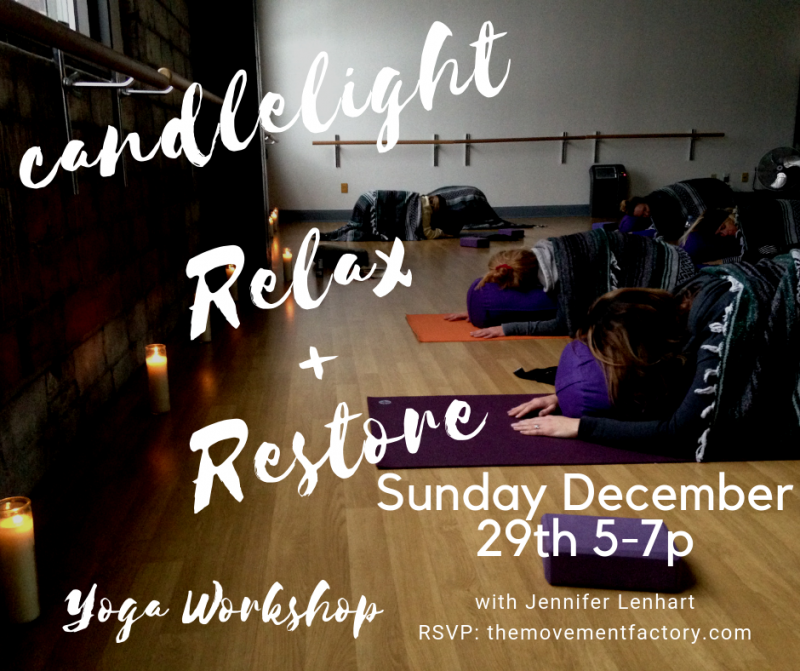 Candelight Relax + Restore Yoga Workshop