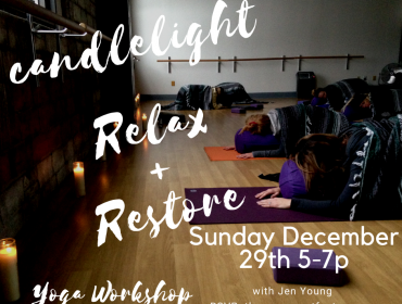 Candlelight Relax + Restore Yoga Workshop